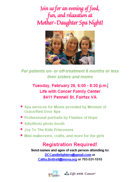 Mother Daughter Spa Night 2019 – DC Candlelighters